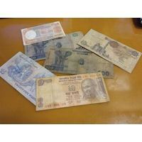 МИКС денег из обихода: Египет,Индия,Конго 5