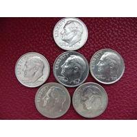 Даймы (10 центов, 6 штук лотом)