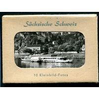 ГДР. Набор 10 фото малого формата. Саксонская Швейцария. Выпуск 1956 года. Коллекционный выпуск.