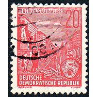133: Германия (ГДР), почтовая марка, 1955 год