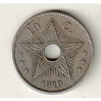 Бельгийское Конго 10 сантим 1910