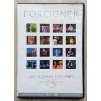 DVD. Foreiner. All Access Tonight. live in concert.