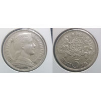 Латвия 5 латов 1929 г.