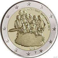 2 евро 2013 Мальта 100 лет Самоуправлению Мальты UNC из ролла