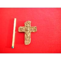 Оловянный крестик с датой 1810г. (Не частый).