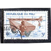 Мали. Mi:ML 125. Рыбаки с сетями. Серия: Речная рыбалка. 1966.