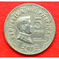 35-09 Филиппины, 5 песо 2002 г.
