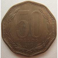 Чили 50 песо 2013 г.