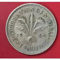 Нигерия британская 1 шиллинг 1959