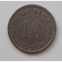 Распродажа - Германия (Империя) 10 пфеннигов 1907 (F)_km#12