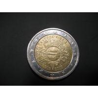 2 евро Кипр 2012 10 лет евро глобус