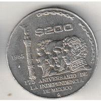 Мексика 200 песо 1985 175 лет Независимости