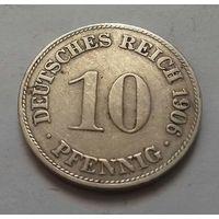 10 пфеннигов, Германия 1906 D