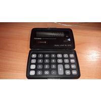 Калькулятор CASIO, DUAL LEAF SL-210, 100% Япония, на солнечной батаре, раскладной. Доставка везде, удобная оплата.