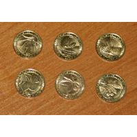 Армения 2014 компл. 6 монет Деревья UNC