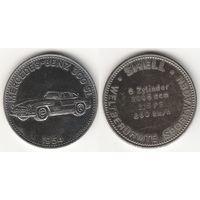 """Жетон SHELL История автомобилестроения """" Mercedes-Benz 300SL 1954 """""""