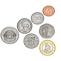 Маврикий набор 7 монет 2000-2010 UNC