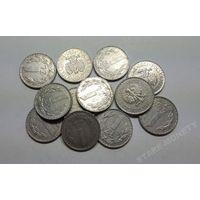 Польша, 1 злотый 1980,1982,1983,1984,1985,1986,1987,1988,1989,1990 год.