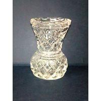 Очень миниатюрная гранёная вазочка 7,5 см