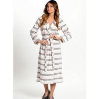 Уютный халат серо-розовый Р-р 48
