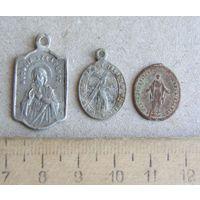 Католические иконки - образки 3 шт.