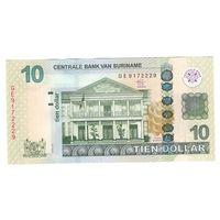 Суринам 10 долларов 2012 года. Состояние UNC!