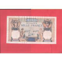 Франция  1000 франков  1939г. оч.большая
