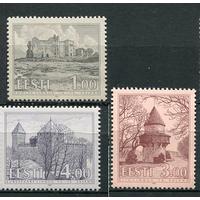 Эстония 1994 Стандарт Замки Архитектура Археология Музеи История. **