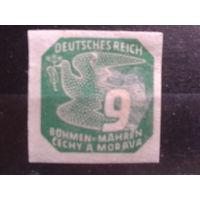 Богемия и Моравия 1943 Газетная марка 9г