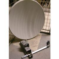 Спутниковая тарелка + крепления и держатель на одну головку