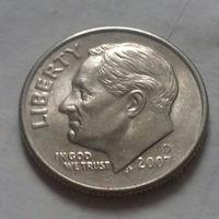 10 центов (дайм) США 2007 D, AU