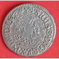 Трояк 1619 г. R4 с рубля без МЦ.