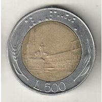 Италия 500 лира 1986