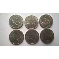 Франция 1 франк 1960,61.64. 74.76.78.