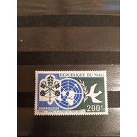 1966 Мали герб Ивер 36 оценка 4,5 евро выпускалась одиночкой  чистая клей лёгкая наклейка  (2-16)