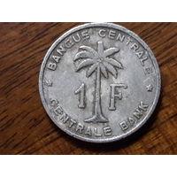 Руанда - Урунди.  Бельгийское Конго 1 франк 1958