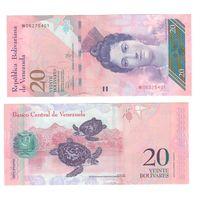 Банкнота Венесуэла 20 боливаров 2013 UNC ПРЕСС префикс W