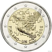 2 евро 2005 Финляндия ООН UNC из ролла