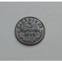 САКСЕН-МЕЙНИНГЕН  3 крейцера 1835 г.