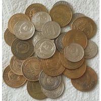 Сборный лот(15 пятаков ,15 никеля-до 1958 гг.)