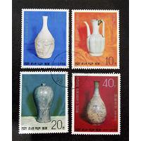 Корея. КНДР 1977 г. Фарфоровые вазы. Искусство. Культура, полная серия из 4 марок #0101-И1P22