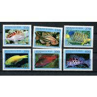 Бенин - 1997 - Рыбки - [Mi. 978-983] - полная серия - 6 марок. MNH.