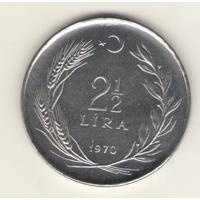 2 1/2 лиры 1970 г. FAO- Сельскохозяйственный прогресс.