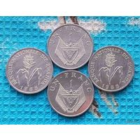Руанда 1 франк 1985 года. UNC. Цветущий стебель проса. Герб Руанды. Супер цена!