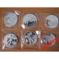 Набор из 6 монет 1 рубль 1991 года. Барселона 1992