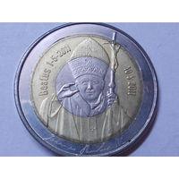 Антарктические территории 10 долларов 2011 г.. Папа Римский.