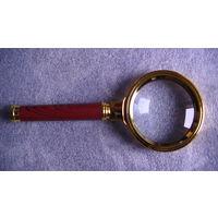 Лупа ручная, увеличительное стекло, увеличение X 10 раз, 60 мм. . распродажа