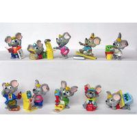 Киндер полная серия Мыши в офисе мышки Компьютерные мышки и вкладыш к серии