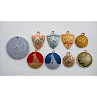 Набор собачьих медалей.