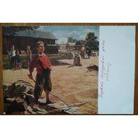 Козин В. Первый трудовой день. Дети. Соцреализм. 1956 г. Чистая